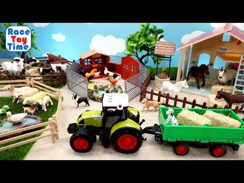 Fun Farm Animals Toys For Kids - Let's Make a Farm!