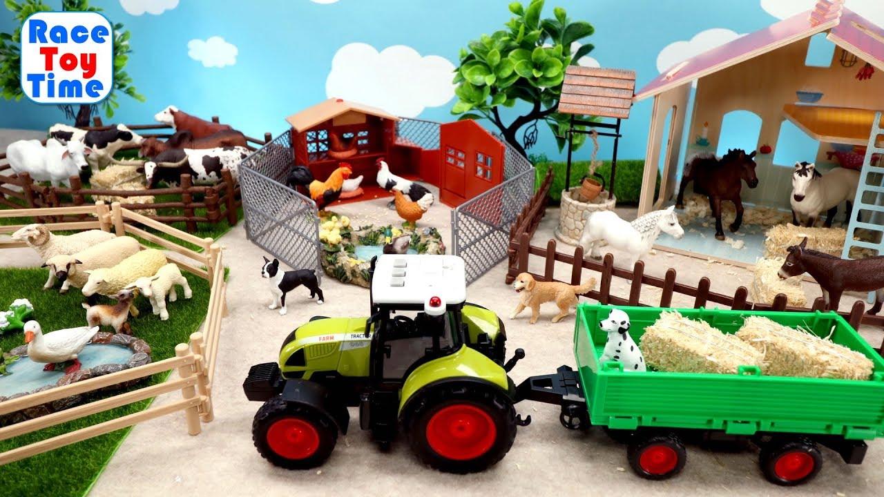 Fun Farm Animals Toys For Kids - Let's Make a Farm! - YouTube
