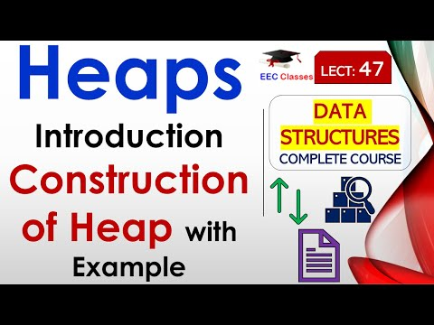 Construction of Heap with Example in Hindi, English
