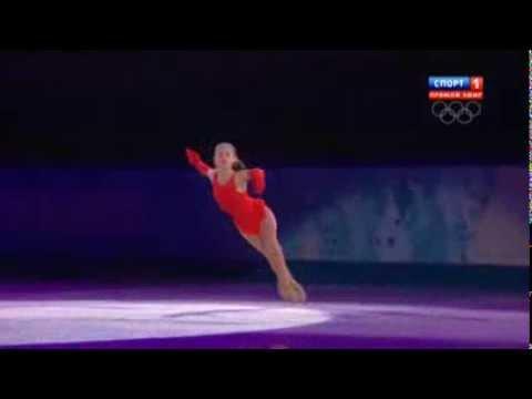 видео: Юлия Липницкая (Julia Lipnitskaia). Показательные выступления. Олимпиада Сочи 2014