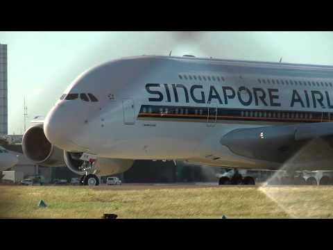 Singapore Airbus A380, Agusta 109 Grand Helicopter Landing
