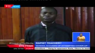 A Nairobi High School Teacher accused of defiling a form one student charged in court