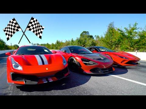 $1,000,000 DRAG RACE! (McLaren 720s vs Ferrari 488 Pista vs Ferrari F8 Tributo)