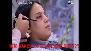 AFTER the BEATING: Abused Muslim women officially encouraged to use makeup to hide bruises