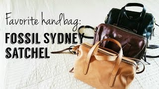 My Favorite Handbags: The Fossil Sydney Satchel