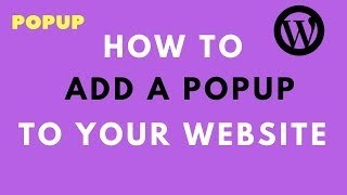 How to Add Popup Pluggin to Wordpress Website- Free Pop up Plugin for Wordpress