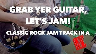JAM WITH ME! Classic Rock Style Backing Track in A