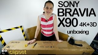 Sony Bravia TV X90 4K unboxing