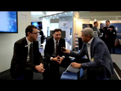 it-sa 2016: Ulrich Parthier mit Peter Rost und Ammar Alkassar, Rohde & Schwarz Cybersecurity GmbH