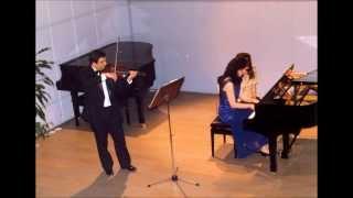 Brahms sonata no.3 for violin and piano 2nd and 3d movement(Pandush Gjezi-Mirella Tillianaki)