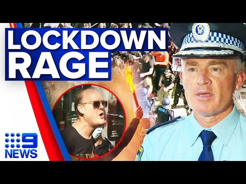 Lockdown protestors clash with police in Sydney and Melbourne   Coronavirus   9 News Australia
