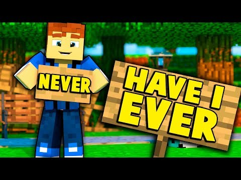 NEVER HAVE I EVER.... WITH UNSPEAKABLEGAMING & MOOSECRAFT! (Minecraft Edition)