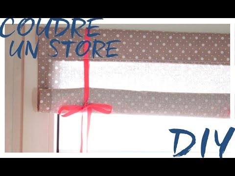 diy coudre un store youtube. Black Bedroom Furniture Sets. Home Design Ideas