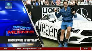 Roger Federer Beats Raonic To Win Stuttgart Cup Final |Sports This Morning|