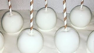 How To Make White Candy Apples #Candyapples #ManAboutCake