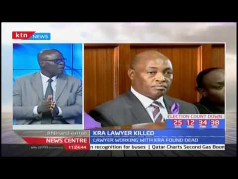 KRA lawyer killed and body dumped along Mombasa road