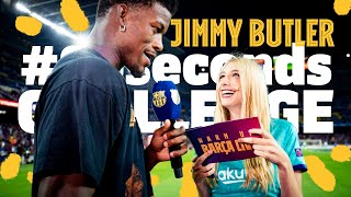 JIMMY BUTLER takes the #90secondschallenge BEFORE BARÇA 5-2 VALENCIA
