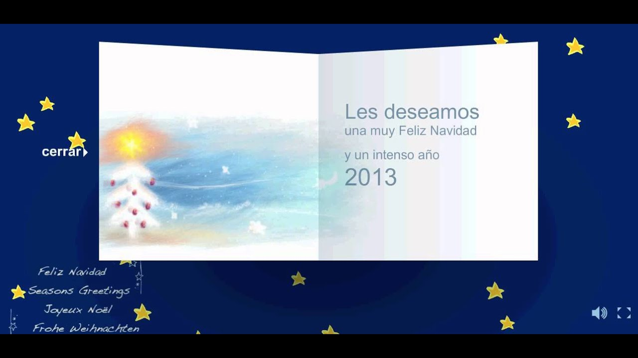 tarjeta de navidad con musica