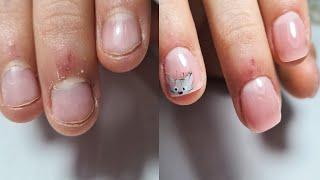 ногти ГРЫЗУНЧИКА ПРЕОБРАЖЕНИЕ акрилатик COSMOPROFI ДЕТСКИЙ маникюр КОТ на ногтях