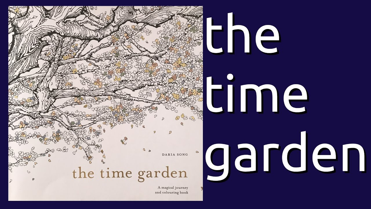 coloring book flip through the time garden by daria song youtube