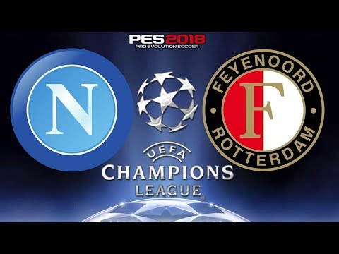 PES 2018 - Napoli x Feyenoord   UEFA Champions League   Gameplay. PS4