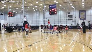 Highlights Arlington Elite U17 Boys Volleyball v CJVA 17 Midatlantic Classic Dec 15 & 16 2018