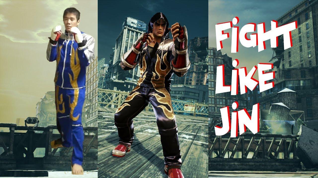 Real Life Tekken 7 Jin Kazama Jumping Front Kick Youtube