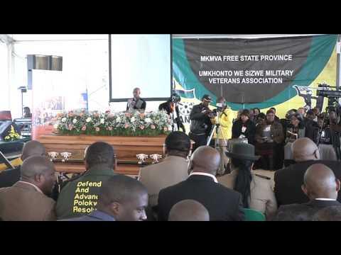 ANC   Reburial of Umkhonto Wesizwe cadre, Sechaba Lesimola, Theunissen   16 August 2014
