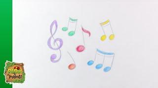 Kijk Tekenen - Muzieknoten filmpje