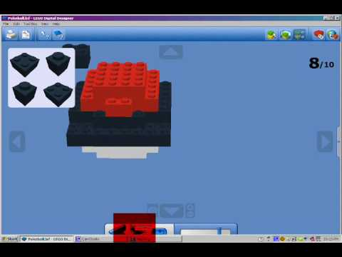 How To Make A Lego Pokeball Youtube