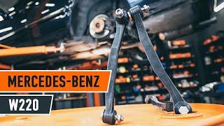 Wie MERCEDES-BENZ S W220 Koppelstange / Pendelstütze hinten wechseln TUTORIAL | AUTODOC