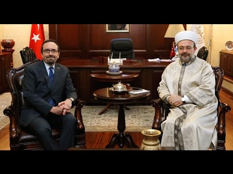 Diyanet İşleri Başkanı Görmez, ABD'nin Ankara Büyükelçisi John Bass'i kabul etti…