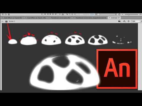 How to Animate an Explosion Effect in Adobe Animate or Flash Video Tutorial