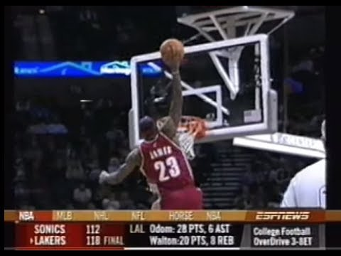 save off d3498 cedc0 LeBron James' greatest poster dunks