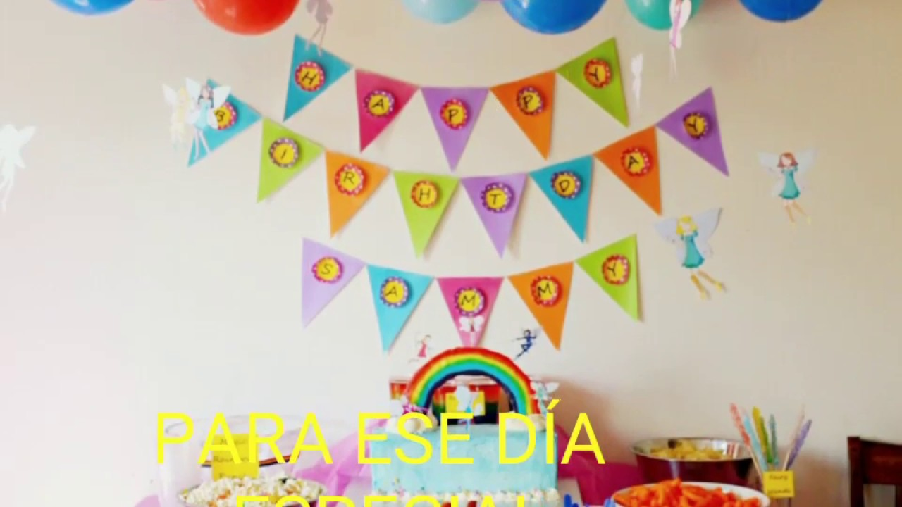 Decoraci n de cumplea os para ni as youtube for Decoracion cumpleanos nina 2 anos
