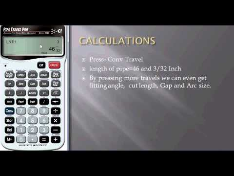 Calculation of the Length and the Bend Angle of a Pipe with the Calculator  Pipe Trades Pro