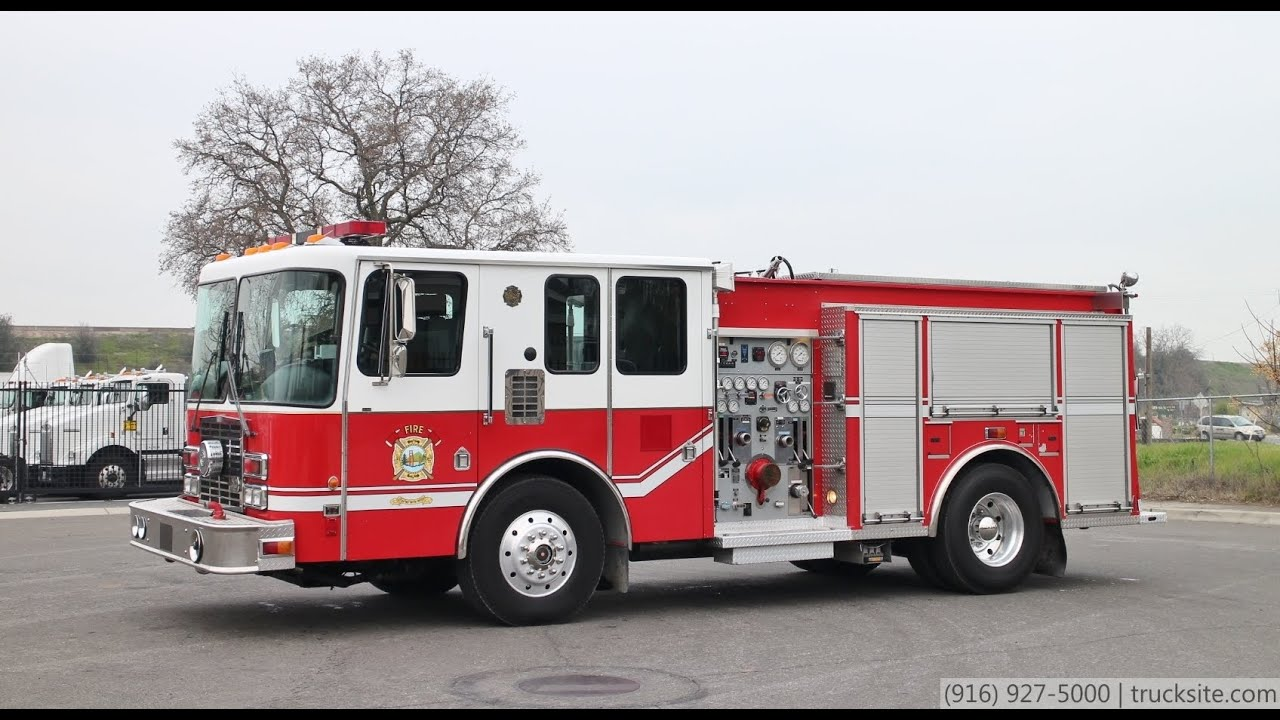 1996 Hme 1871 Series 1250 500 Fire Pumper Youtube