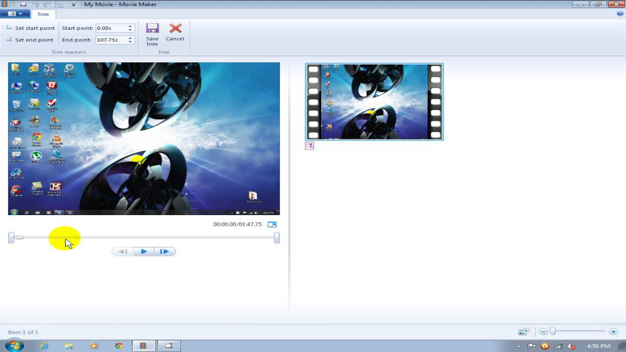 Windows movie maker tutorial 2012/2013 split & trim free 4.