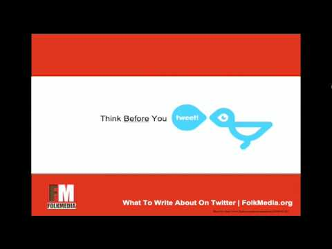 What To Write On Twitter