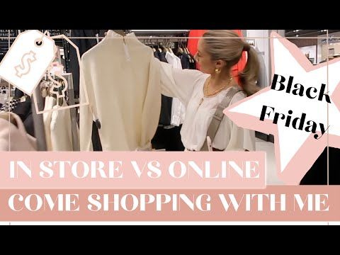⚠️🛍️ REALTIME COME BLACK FRIDAY SHOPPING WITH ME  ⚠️🛍️  // IN-STORE VS ONLINE // Fashion Mumblr