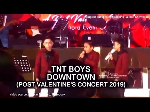 """TNT Boys sing """"Downtown""""  (with English Subtitles) Post Valentine's Concert  2019 Mp3"""