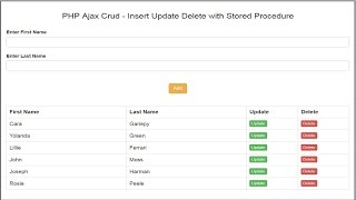 PHP Ajax Crud - Insert Update Delete with Stored Procedure 1