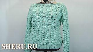 Вязание спицами пуловера Урок 55 часть 3 из 3 Knitting Pullover Pattern