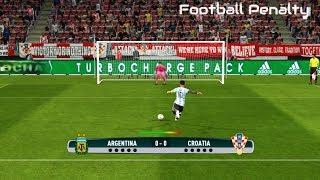 Argentina vs Croatia | Penalty Shootout | PES 2017 Gameplay PC
