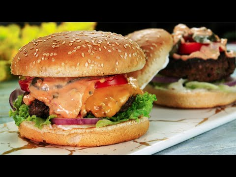 Spicy Beef Burger Recipe | Grilled Burger | Bakra Eid Special Recipe By SooperChef 🍔