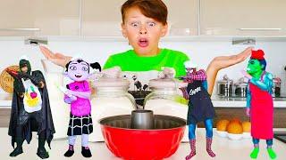 사탕을 먹으면 무엇으로 변할까요?! 아드리아나 마법 사탕 making Super Hero dance Collection of new Stories for Kids