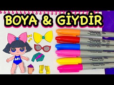 Lol Bebek Boyama Ve Giydirme Oyunu Lol Surprise Doll Drawing And