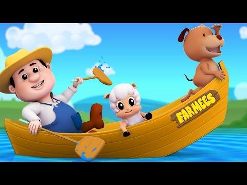 Row Row Row Your Boat | 3D Nursery Rhymes | Kids Songs | Baby Rhymes by Farmees