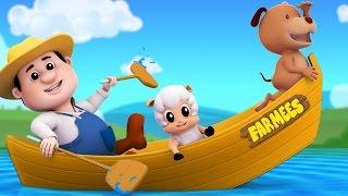 Row Row Row Your Boat   3D Nursery Rhymes   Kids Songs   Baby Rhymes by Farmees