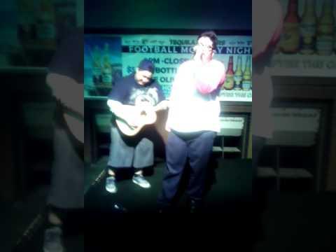 #guitsynch Hilario and Motha Fudge at Tequila Hoppers Karaoke